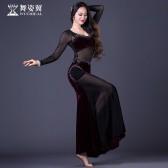 舞姿翼肚皮舞演出服2017新款高档女舞蹈表演服装裙子套装QC2832
