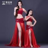 舞姿翼肚皮舞练习服套装2018新款亲子练习服套装QC2852/RT218