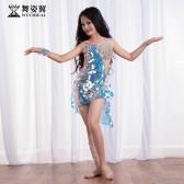 舞姿翼儿童肚皮舞表演出服2018新款东方舞蹈服装短裙套装RT271