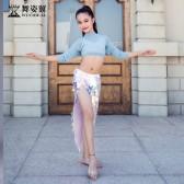 舞姿翼儿童肚皮舞练功服装2018新款秋季一片式绑带亮片 短裙RT301/qc2980