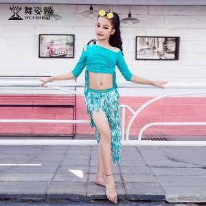 舞姿翼少儿童肚皮舞2018新款秋冬练功服RT302