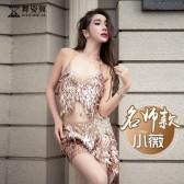 舞姿翼肚皮舞表演服装女2018新款鼓舞短裙演出服QC3001
