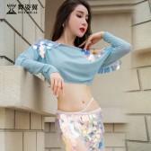 舞姿翼肚皮舞表演出服装2018新款长裙东方舞表演服QC2995