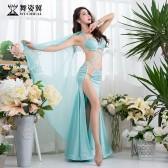 舞姿翼肚皮舞表演出服装女2018新款性感丝绸长裙东方舞蹈服QC3003