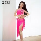 舞姿翼儿童肚皮舞表演出服装2019新款高档鼓舞短裙套装初学者潮款RT356