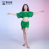 舞姿翼肚皮舞练功服女2019新款夏初学者东方舞蹈套装QC3083