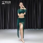 舞姿翼肚皮舞练功服女2019新款夏性感不规则鼓舞裙初学者QC3085