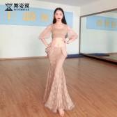 舞姿翼肚皮舞练功服女2019新款夏初学者东方舞蹈套装QC3080