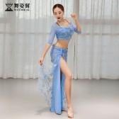 舞姿翼肚皮舞练功服女2019新款夏季套装郭甜甜款QC3098