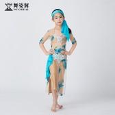 舞姿翼儿童肚皮舞表演服装2019新款演出服袍子RT388