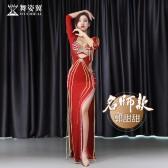 舞姿翼肚皮舞表演服袍子女2019新款秋季套装郭甜甜款QC3109