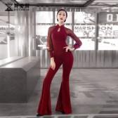 舞姿翼修身形体衣礼仪服2019新款训练走秀肚皮舞练功服舞蹈套装XT122
