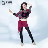 舞姿翼成人肚皮舞长裤练功服套装2020新款套装QC3172