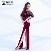 舞姿翼成人肚皮舞开叉长裙练功服套装2020新款套装QC3171