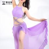 舞姿翼成人肚皮舞开叉长裙练功服套装2020新款套装QC3177