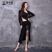 舞姿翼成人肚皮舞莫代尔连衣裙练功服套装2021新款套装QC3198